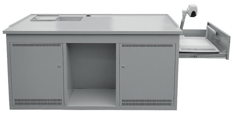 钢制多功能多媒体讲桌